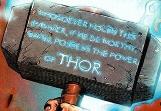 Thor un Çekicinin Üstünde Ne Yazıyor ?